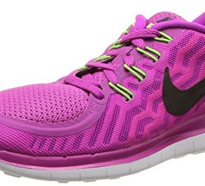 Nike Free 5.0, Damen Laufschuhe, Violett (Fuchsia flash/Black-Pink Power-Hot lava), 37.5 EU