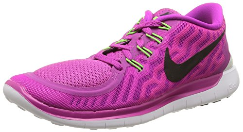 Nike Free 5.0, Women's Running Shoes, violet (Fuchsia flashBlack Pink Power Hot lava), 37.5 I