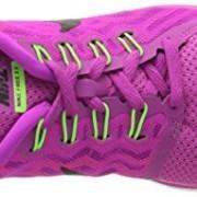 Nike Free 5.0, Damen Laufschuhe, Violett (Fuchsia flash/Black-Pink Power-Hot lava), 37.5 EU